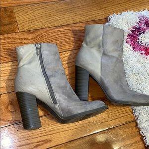 2-Tone Gray Boots
